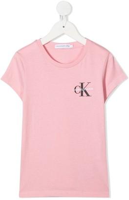 Calvin Klein Kids logo print cotton T-shirt