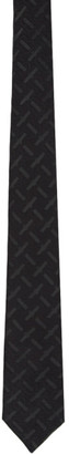 Burberry Black Manston Monogram Tie