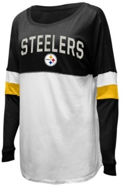 5th & Ocean Women's Pittsburgh Steelers Boyfriend T-Shirt