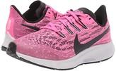 Nike Air Zoom Pegasus 36 (Little Kid/Big Kid) (Pink Blast/Black/Vast Grey) Kids Shoes