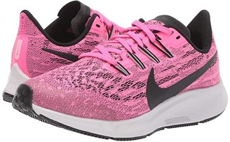 Nike Kids Air Zoom Pegasus 36 (Little Kid/Big Kid) (Pink Blast/Black/Vast Grey) Kids Shoes