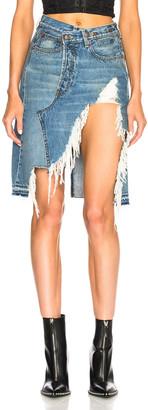 R 13 Norbury Denim Skirt in Jasper | FWRD