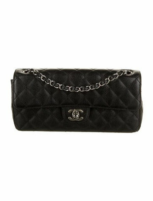 Chanel Caviar E/W Flap Bag Black