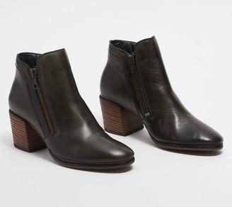 Miz Mooz Leather Block Ankle Boots - Gavin