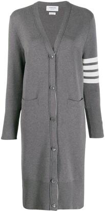 Thom Browne 4-Bar stripe cardi-coat