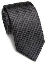Armani Collezioni Tilted Box Patterned Silk Tie