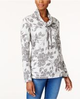 Karen Scott Funnel-Neck Active Sweatshirt, Created for Macy's