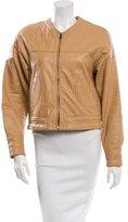 Derek Lam 10 Crosby Leather Long Sleeve Jacket