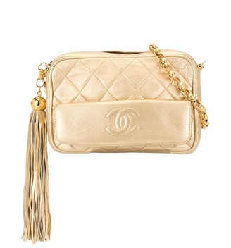 Chanel Pre-Owned diamond quilted tassel camera bag
