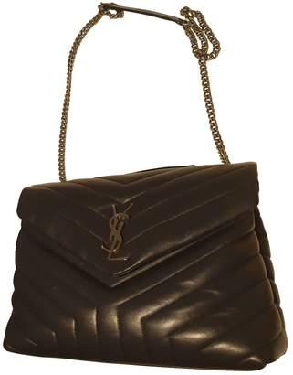 Saint Laurent Loulou Navy Patent leather Handbags