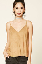 Forever 21 FOREVER 21+ Faux Suede Boxy Cami