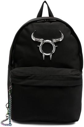 Diesel Bull Horn Logo-Print Backpack