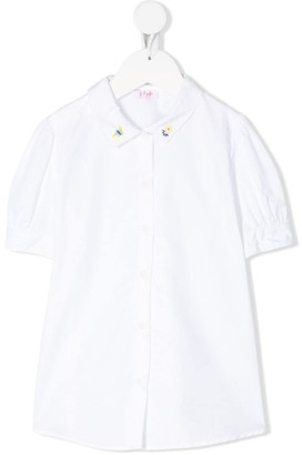 Il Gufo Embroidered-Floral Collar Shirt