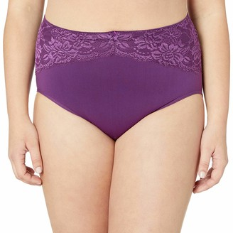 Ahh By Rhonda Shear Women's Seamless Brief with Lace Inset