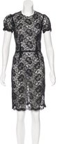 L'Agence Knee-Length Lace Dress
