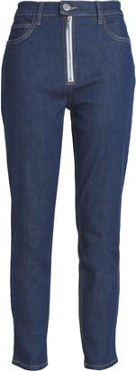 Current/Elliott Zip-detailed High-rise Skinny Jeans