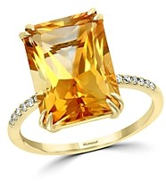Bloomingdale's Citrine & Diamond Statement Ring in 14K Yellow Gold - 100% Exclusive