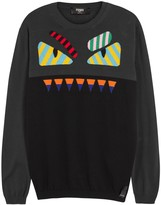 Fendi Charcoal Monster-intarsia Cotton Jumper
