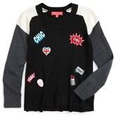 Menu Patch Sweater (Little Girls & Big Girls)