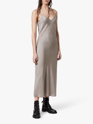 AllSaints Tierney Slip Midi Dress