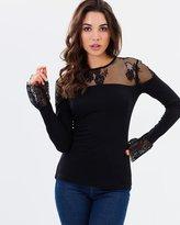 Rebecca Jersey Lace Top