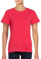 Lord & Taylor Petite Cotton-Stretch Crew Neck Tee