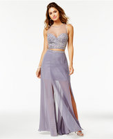 Say Yes to the Prom Juniors' 2-Pc. Illusion Gown, A Macy's Exclusive