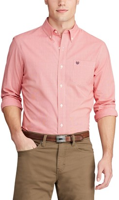 Chaps Big & Tall Stretch Easy-Care Button-Down Shirt