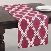 "SARO LIFESTYLE 914.RB1672B Yasmina Collection Printed Moroccan Design Table Runner, 16"" x 72"", Raspberry"