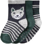 Joe Fresh Baby Boys' 3 Pack Pattern Crew Socks, JF Jag Green (Size 0-12)