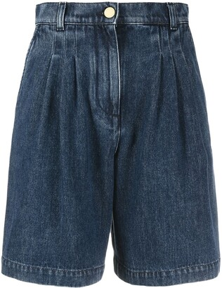 Alberta Ferretti High-Waisted Denim Shorts