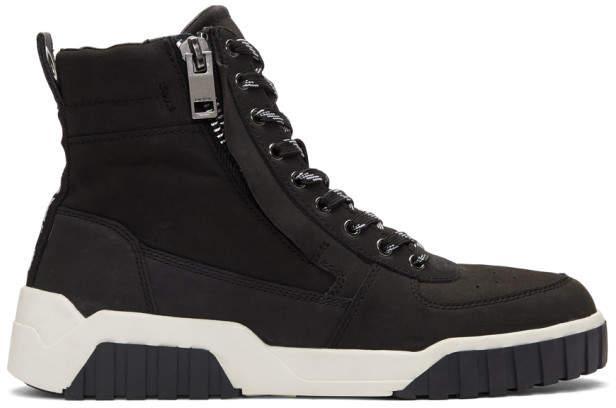 Diesel Black S-RUA MC Sneakers