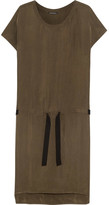 Ann Demeulemeester Washed Satin-twill Dress - Army green