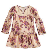 Lucky Brand Biscotti Floral Charlene Drop-Waist Dress - Girls