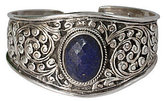 """Novica Artisan Crafted Sterling """"Lapis Leaves""""Cuff"""