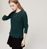 LOFT Split Textural Sweater