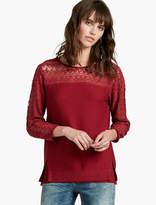 Lucky Brand Lace Yoke Sweater