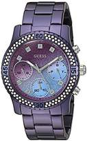 GUESS Women's U0774L4 Sporty Watch with DialCrystal-Accented Bezel and Stainless Steel Pilot Buckle