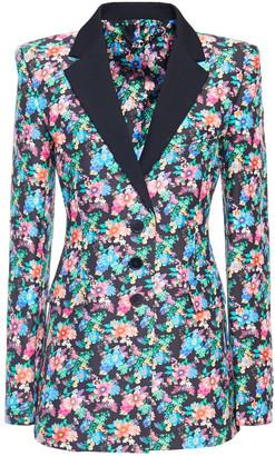 Paco Rabanne Floral-print Cotton-blend Blazer