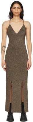 Ganni Gold Knit Glitter Dress