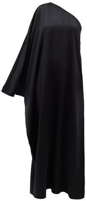 La Collection - Maui One-shoulder Silk-satin Dress - Womens - Black