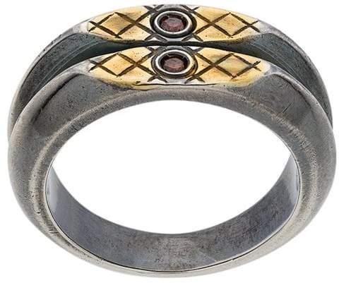 Bottega Veneta double band ring