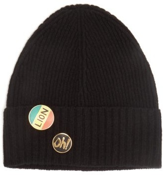 Bella Freud Pin-embellished Wool Beanie Hat - Black