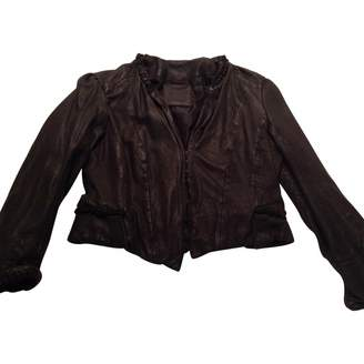 Kate Moss For Topshop \N Anthracite Leather Jackets