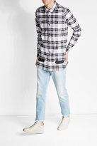 Off-White Off White Slim Fit Cropped Five-Pocket Jeans