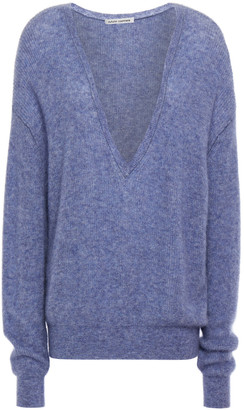 Autumn Cashmere Melange Cashmere And Silk-blend Sweater