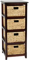 Asstd National Brand Seabrook 4-Tier Storage Accent Cabinet