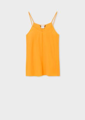 Paul Smith Women's Yellow Silk-Blend Vest Top
