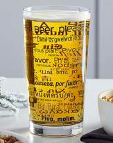 Fashion World Order a Beer Around the World Pint Glass