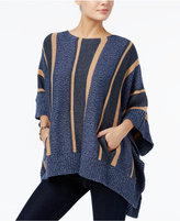 Tommy Hilfiger Aubrey Striped Poncho Sweater, Only at Macy's